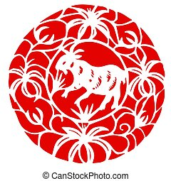 Chinese Zodiac of sheep - Chinese traditional art of