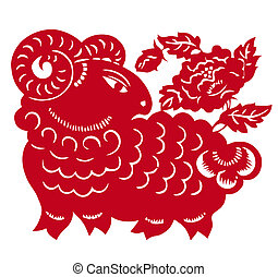 Chinese Zodiac of sheep year - Traditional Chinese culture,...
