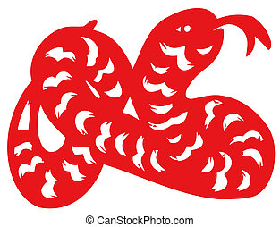 Chinese zodiac of snake - Chinese traditional...