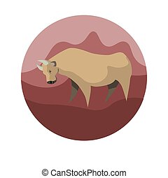 Chinese zodiac sign Ox vector horoscope icon or symbol