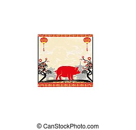 Chinese zodiac the year of Pig