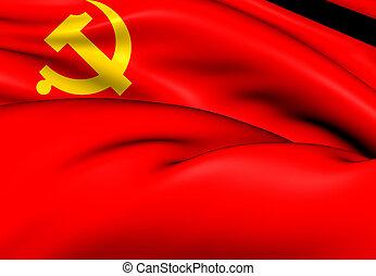 chinesische kommunistische partei, fahne