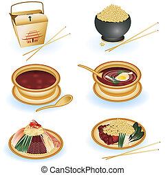 chinesische speise, sammlung