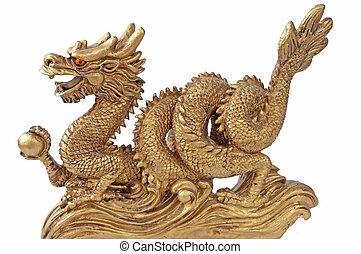 chinesischer drache, für, happyness, und, glück