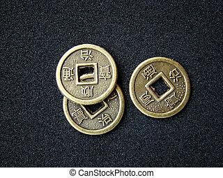 chinesisches , feng shui, geldmünzen