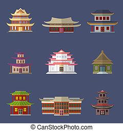 chinesisches , haus, heiligenbilder