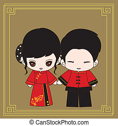 chinesisches , heiraten kleid