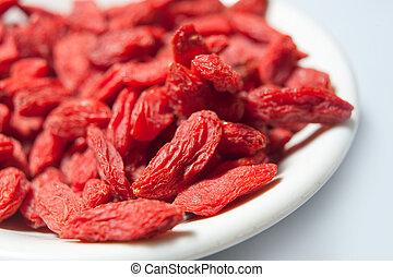 chinesisches , materialien, wolfberry, kraeuter, gesundheit,...