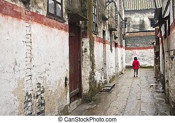 chino, aldea, en, china