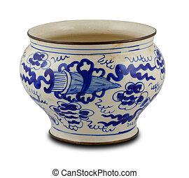 chino, antigüedad, florero