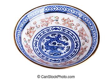 chino, cerámico, tazón de fuente de la sopa