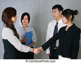 chino, empresa / negocio, cooperación