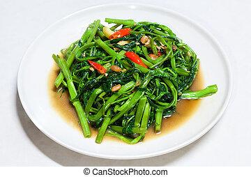chino, enredadera, bata frito