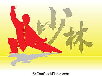 chino, kung-fu.