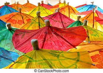 chino, paraguas