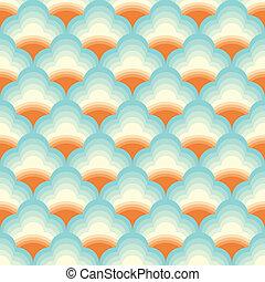 chino, patrón, nube, vector