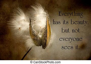 chino, proverbio, sobre, belleza, en, naturaleza, con, un,...