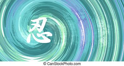 chino, símbolo, paciencia