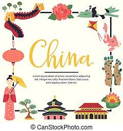 chino, señales, arquitectura, símbolo, lugar famoso