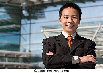 chinois, affaires asiatiques, homme