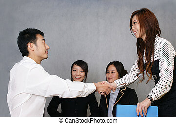 chinois, business, coopération