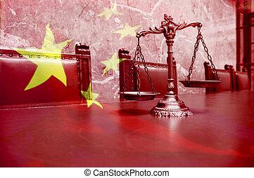 chinois, droit & loi, et, justice