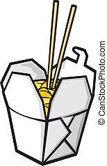 chinois nourriture, jeûne