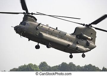 chinook helicopter at raf cosford shifnal shropshire england...