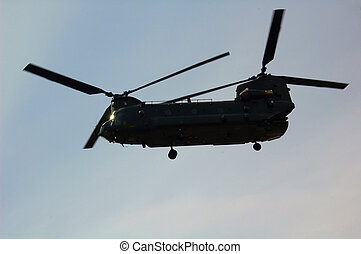 Chinook helicopter - The helicopter ferrying the first wives...