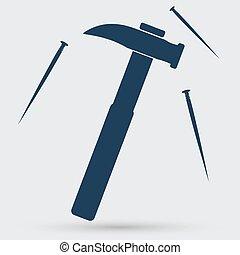 chiodo, icona martello
