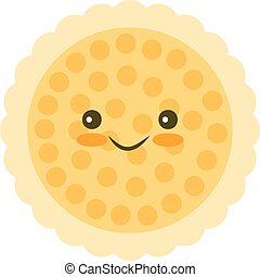 Chip cookie icon - Kawaii Chip cookie icon for food apps and...
