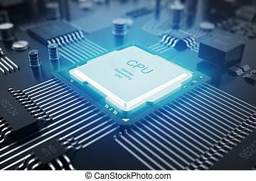 chip., eda, tablero sistema, comunicación, interpretación, ...