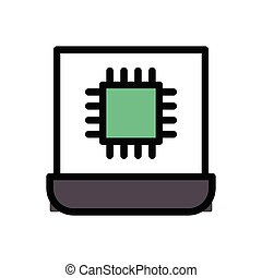 chip  flat color icon