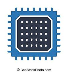 Chip glyph color icon