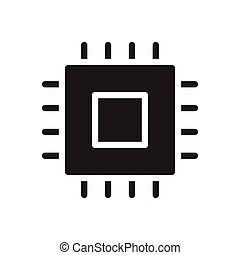 chip glyph flat icon