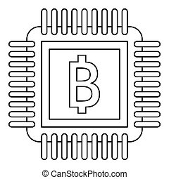 Chip icon, outline style