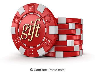 chip of casino gift