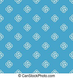 Chip pattern vector seamless blue