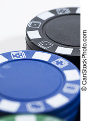 Chip poker picture over white bakground.