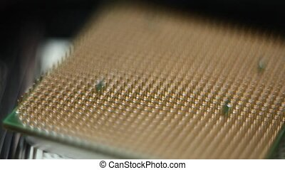 Chip processor computer motherboard macro.