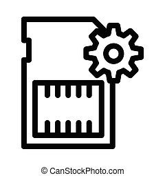 chip thin line icon