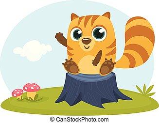 chipmunk, cartone animato, scoiattolo