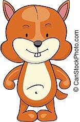 Chipmunk cartoon icon - Chipmunk cartoon isolated on white...