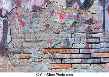 scratched graffiti