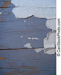 Chipped Paint - An old, cracked painted door.
