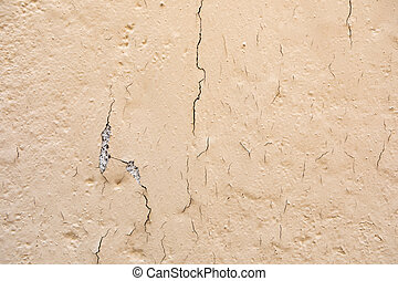 Chipped wall with a orange paing
