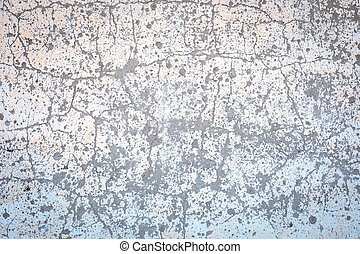 Chipped wall with white paint