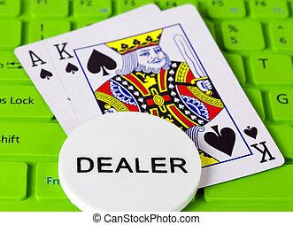 chippen, kasino, spil, poker