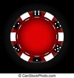 Chips for the casino. Gambling. Vector Illustration.
