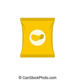 Chips icon, flat style